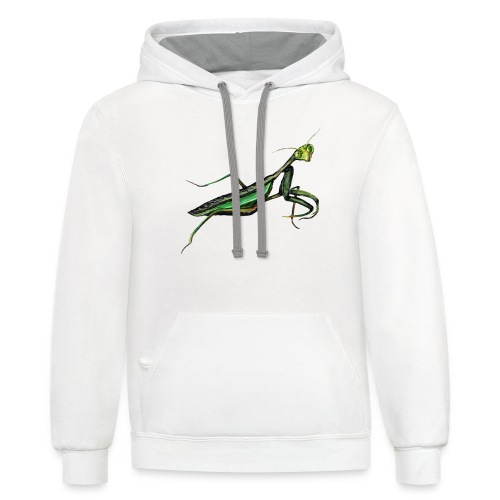 Praying mantis - Unisex Contrast Hoodie