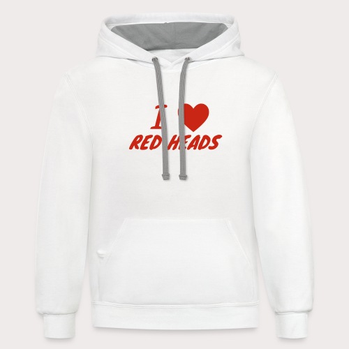 I HEART RED HEADS - Contrast Hoodie