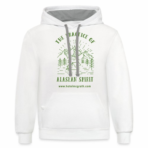 Alaskan Spirit green - Contrast Hoodie