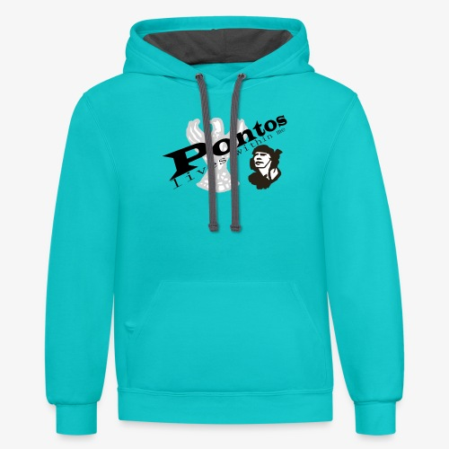 Pontos lives within me. - Contrast Hoodie