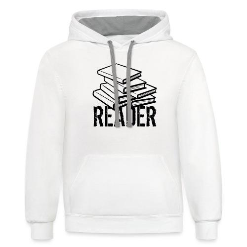 reader - Unisex Contrast Hoodie