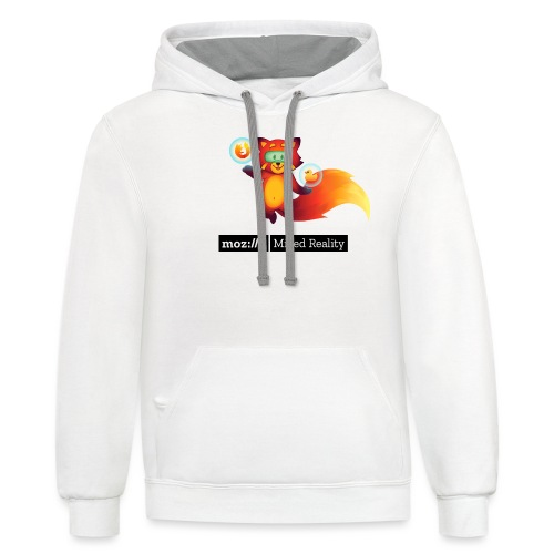 Foxr Floating (black MR logo) - Unisex Contrast Hoodie