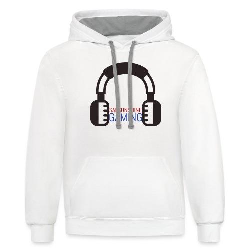 salsunshine gaming logo - Contrast Hoodie