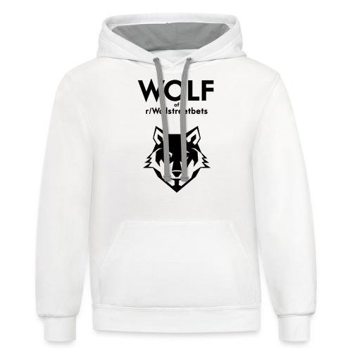Wolf of Wallstreetbets - Unisex Contrast Hoodie