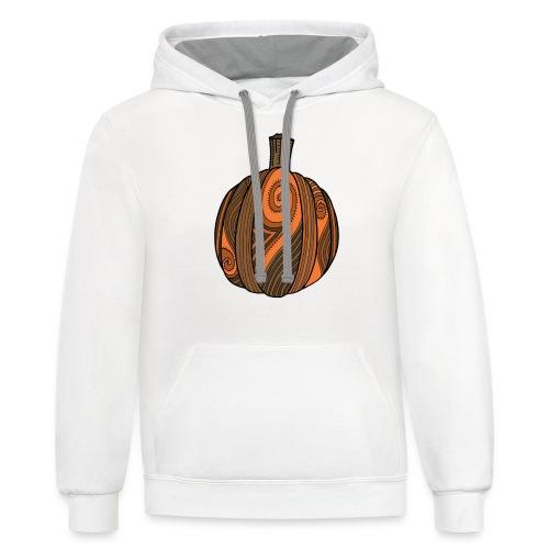 Art Pumpkin - Unisex Contrast Hoodie