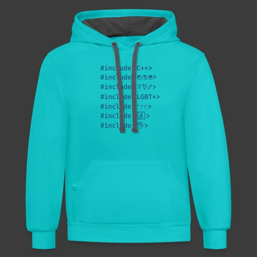 Blue Include List - Contrast Hoodie