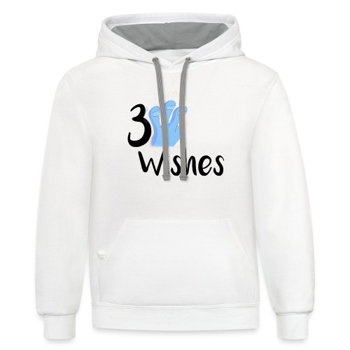 3 Wishes Abstract Design. - Unisex Contrast Hoodie
