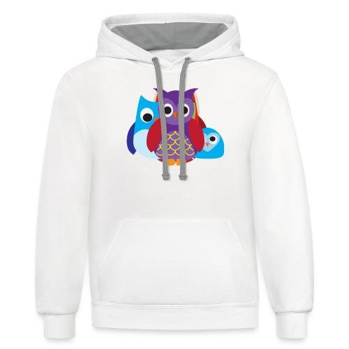 Cute Owls Eyes - Contrast Hoodie