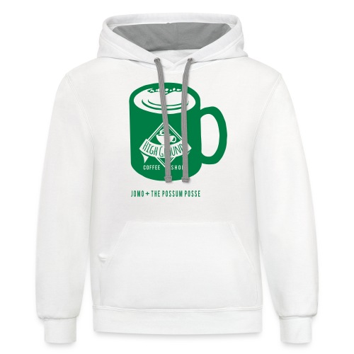 High Grounds Coffee Shop - Unisex Contrast Hoodie