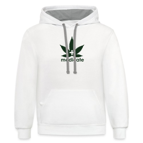 Medicate Supporter - Unisex Contrast Hoodie