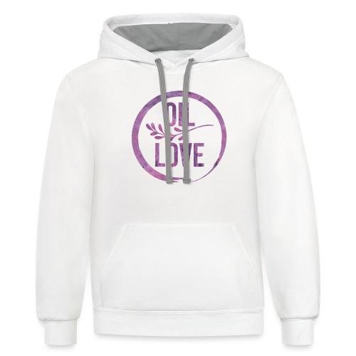 Oil Love Purple - Contrast Hoodie