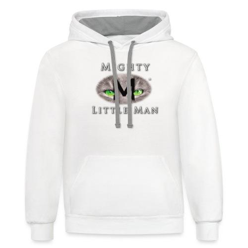 MIGHTY LITTLE MAN Logo - Unisex Contrast Hoodie