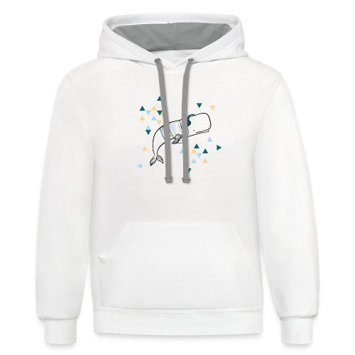Music Whale - Contrast Hoodie