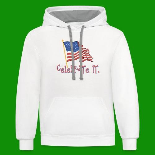 USA Celebrate It - Unisex Contrast Hoodie