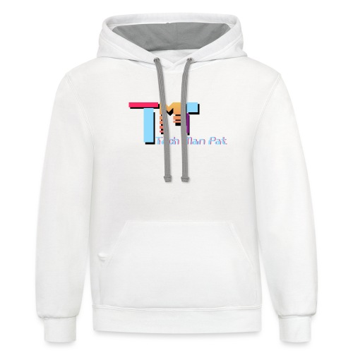 TechManPat Logo Large - Contrast Hoodie