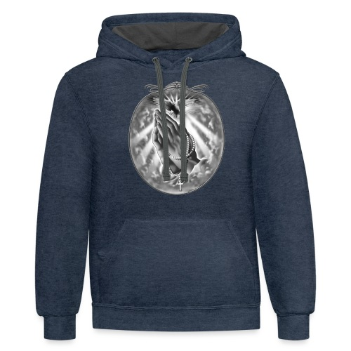 Praying Hands by RollinLow - Contrast Hoodie