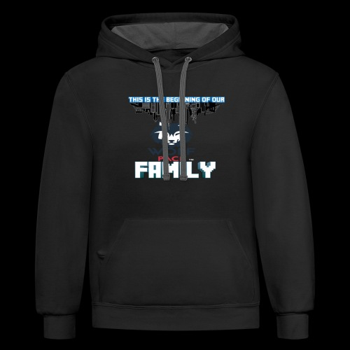 We Are Linked As One Big WolfPack Family - Contrast Hoodie