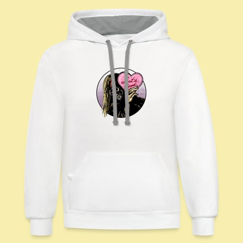 I <3 Lets Read! - Contrast Hoodie