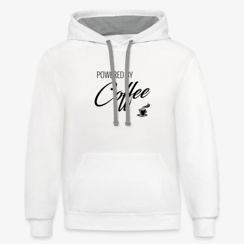 Powered by Coffee - Unisex Contrast Hoodie