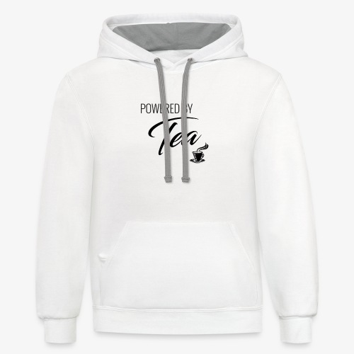 Powered by Tea - Unisex Contrast Hoodie