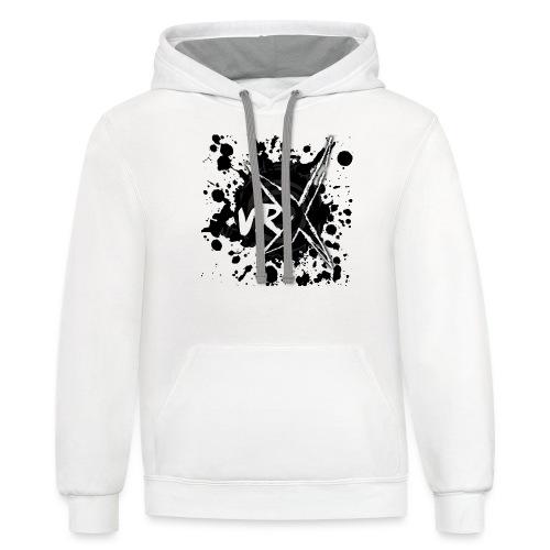 VRX Black Paint logo - Unisex Contrast Hoodie