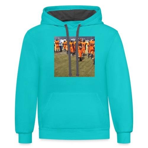 Football team - Contrast Hoodie