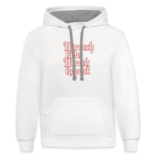 Wrench, Ride, Wreck, Repeat - Contrast Hoodie