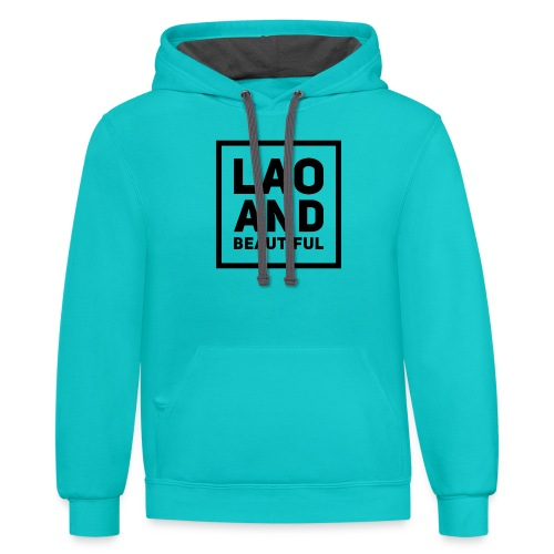 LAO AND BEAUTIFUL black - Contrast Hoodie