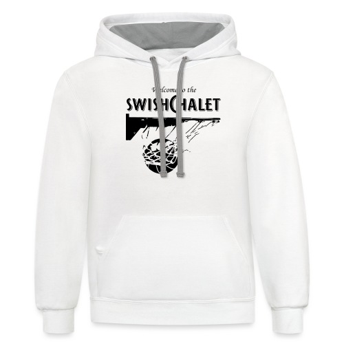 Welcome to the Swish Chalet - Unisex Contrast Hoodie