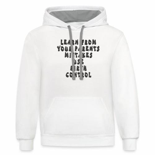 Use Birth Control - Contrast Hoodie