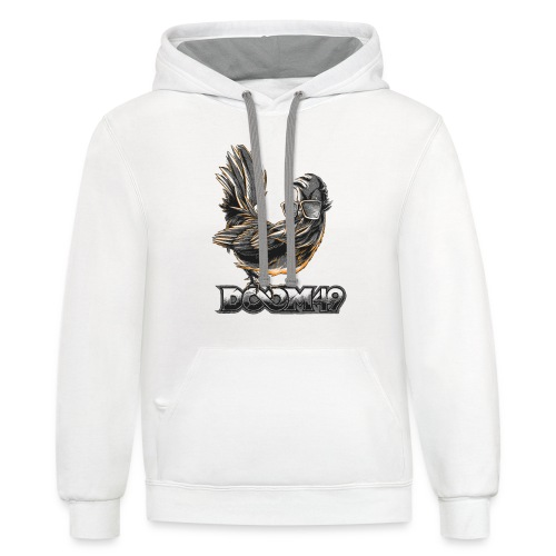 DooM49 Black and White Chicken - Contrast Hoodie