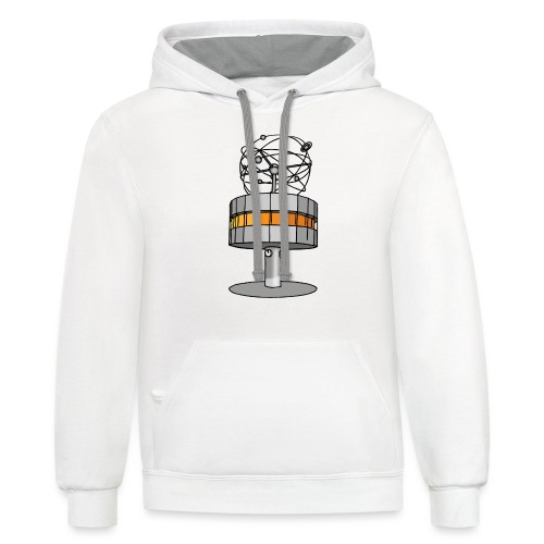 World time clock Berlin - Contrast Hoodie
