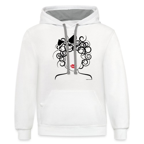 Global Couture logo_curly girl Phone & Tablet Case - Unisex Contrast Hoodie