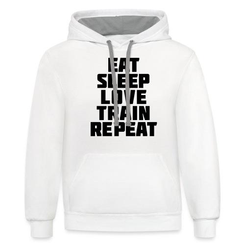 Eat Sleep Gym Motivation - Contrast Hoodie