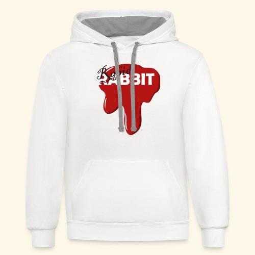Fake Band Logo RABID RABBIT - Contrast Hoodie