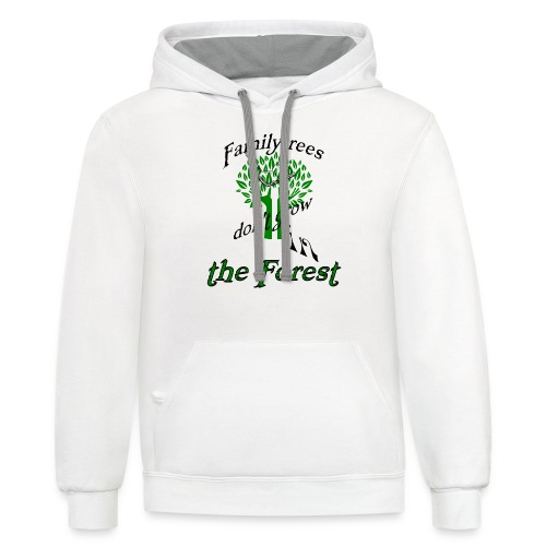 genealogy family tree forest funny birthday gift - Contrast Hoodie
