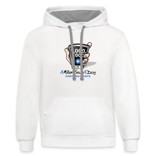 AMillionViewsADay - every view counts! - Unisex Contrast Hoodie