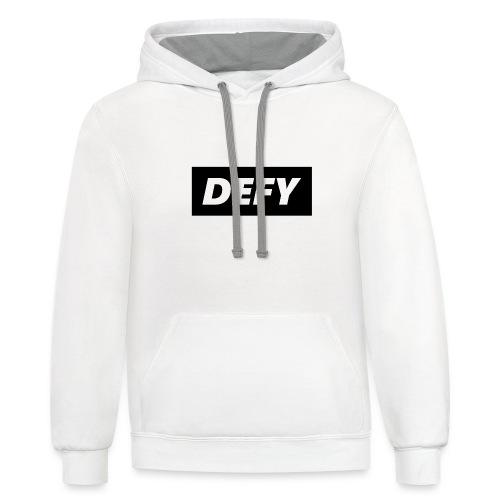 defy logo - Contrast Hoodie