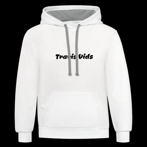 White shirt - Contrast Hoodie