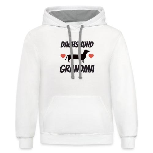 Dachshund Grandma - Contrast Hoodie