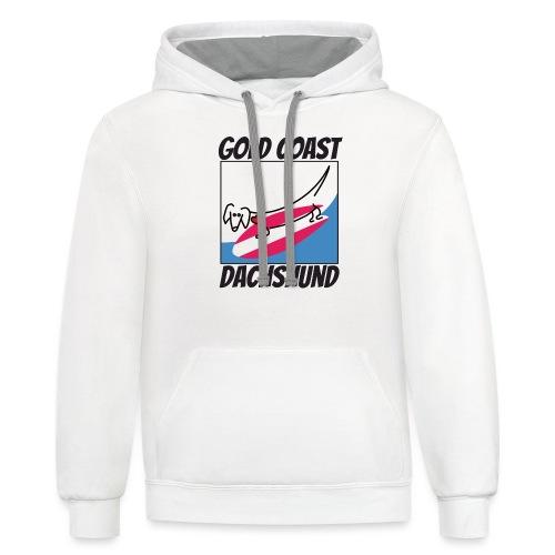 Gold Coast Dachshund - Unisex Contrast Hoodie