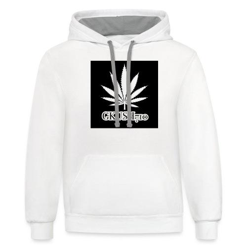 Weed Leaf Gkush710 Hoodies - Contrast Hoodie