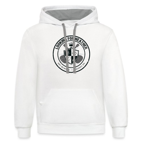 Looking For Heather - Crest Logo - Unisex Contrast Hoodie
