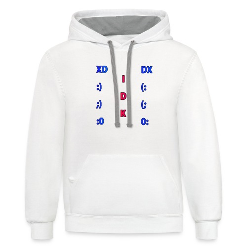 Many Faces! - Unisex Contrast Hoodie