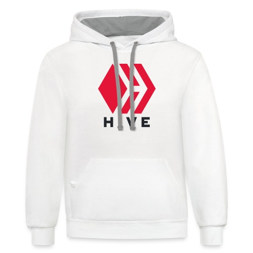 Hive Text - Unisex Contrast Hoodie