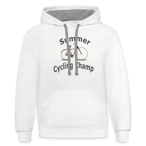 Summer Cycling Champ - Contrast Hoodie