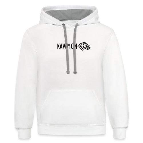 Kawmon Athleisure Gym Apparel Chest Logo - Contrast Hoodie
