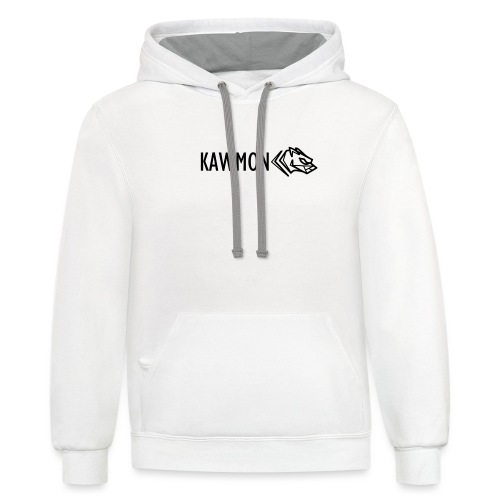 Kawmon Athleisure Gym Apparel Chest Logo - Unisex Contrast Hoodie