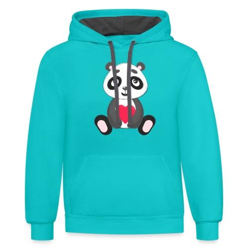 Sweetheart Panda - Contrast Hoodie