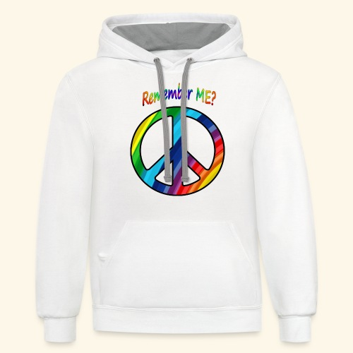 remember me - Peace Sign - Unisex Contrast Hoodie
